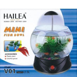 HAILEA MINI FISH BOWL 2.5L BLACK V01