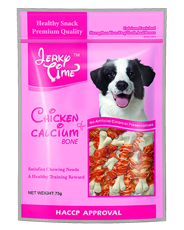 Jerky Time Dry Chicken Jerky with Calcium Bone Twisted